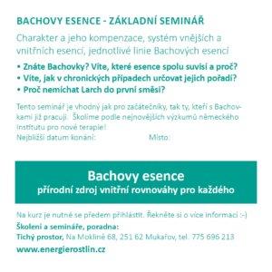 Bachovy květové esence - seminář - popis