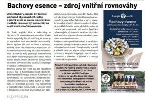 Bachovy esence Energie rostlin v Zápraží 11/2019