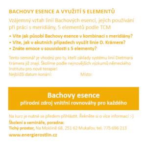 Bachovy esence a TCM - meridiany a 5 elementu