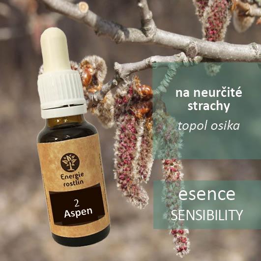 2 - Aspen - esence sensibility, na neurčité strachy