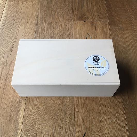 Bachovy esence - dřevěný box- Energie rostlin